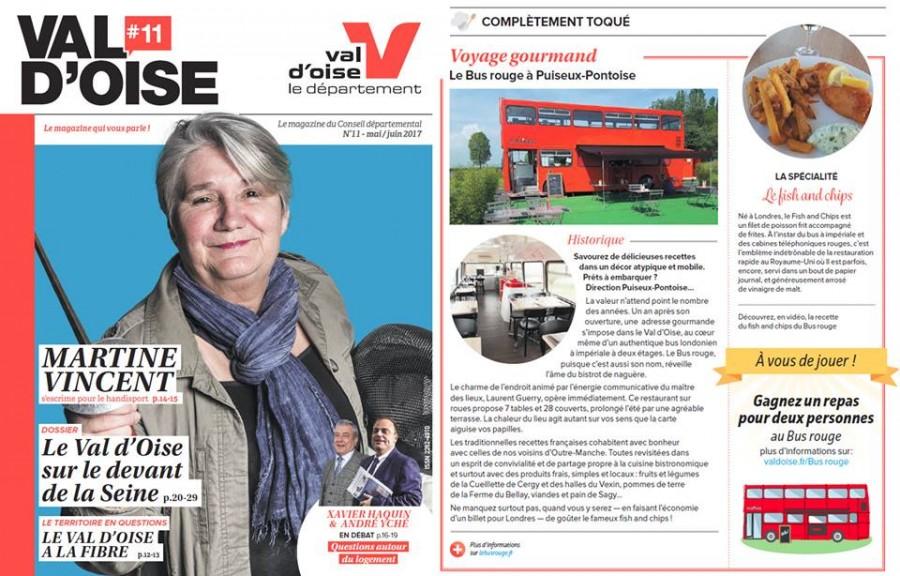 Article dans le Magazine Val d'Oise